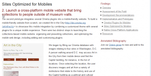 Mobile for Museums